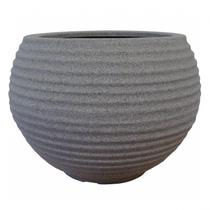Vaso para Plantas Redondo em Polietileno 54 Esfera Lattice 46cmx37cm Japi Mármore -