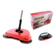 Vassoura dobravel magica inteligente 3 em 1 com dispenser easy clean aspirador de pó manual - Makeda