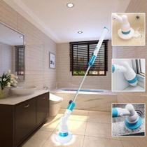 Vassoura Elétrica Magic Spin Scrubber 3 em 1 Recarregável - AMVSHOP7
