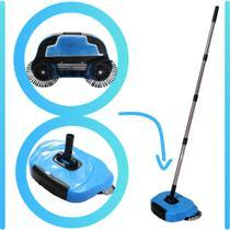 Vassoura Mágica MOP 360º Azul Mundi com Coletor de Lixo -