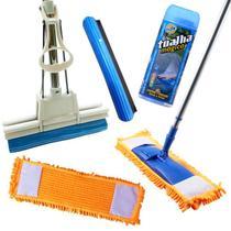 Vassoura Mop Com Refil + Rodo Mágico 27 Com 1  Refil Extra + Toalha Mágica - Vendasshop Utensilios De Limpeza