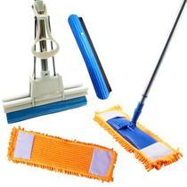 Vassoura Mop Com Refil + Rodo Mágico 27 Com 1  Refil Extra - Vendasshop Utensilios De Limpeza