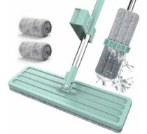 Vassoura Mop Rodo Flat 360 Para Pisos Limpeza + Refil extra - ww