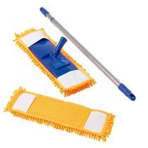 Vassoura Mop Tira Pó 44 Cm Chenille C/ 1 Refil  Bompack - Vendasshop Utensilios De Limpeza