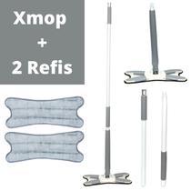 Vassoura Xmop Rodo Mágico Extrusão De Piso Manual + 2 Refis - 123Util