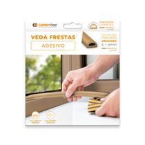 Veda Fresta D Vão Porta Janela Moveis Adesivo Vedante Marrom Claro 6x9mm x 6mt - Comfortdoor