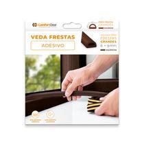 Veda Fresta D Vão Porta Janela Moveis Adesivo Vedante Marrom escuro 6x9mm x 6mt - Confotdoor