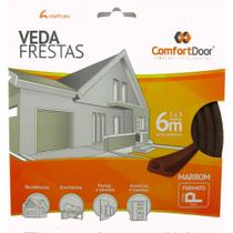 Veda Porta Fresta Marrom Modelo P Comfortdoor 6 Metros -