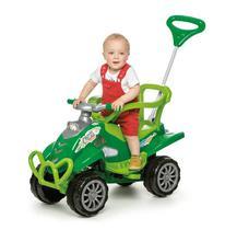 Veículo Carrinho De Passeio Cross Turbo Calesita Verde Alça -