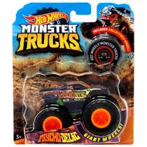 Veículo Die Cast - Hot Wheels - 1:64 - Monster Trucks - Psycho-Delic - Mattel
