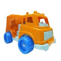 Veículo e Blocos de Encaixe - Laranja e Azul - Gulliver -