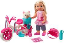 Veículo E Boneca - 37Cm - Little Mommy - Meu Primeiro Passeio - Mattel -