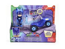 Veículo e Figura com Acessórios - PJ Masks - Aventura na Super Lua - Menino Gato - Dtc -