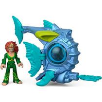 Veículo e Figura - Imaginext - DC Comics - Mera e Submarino de Batalha - Fisher-Price - Fisher price