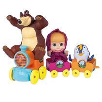 Veículo e Figuras - Masha e o Urso no Trenzinho - Cotiplás - Cotiplas