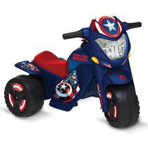 Veículo Elétrico - Moto - 6V - Disney - Marvel - Capitão América - Bandeirante -