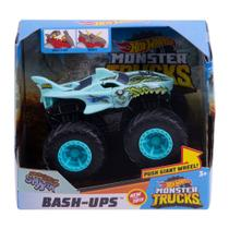 Veículo Hot Wheels - 1:43 - Monster Trucks - Bash Ups - Zombie Shark - Mattel