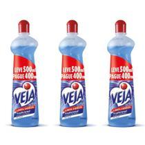 Veja Vidrex Limpa Vidros Tradicional 500ml (Kit C/03) -
