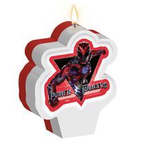 Vela Plana de Aniversário Power Rangers Regina Festas - Festabox