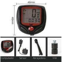 Velocímetro Digital 15 Funções Acessórios De Bicicleta ciclo computador - AAA