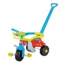Velotrol Festa Azul c/ Aro Empurrador Motoquinha Triciclo Tico Tico - Magic Toys -
