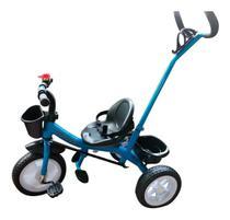 Velotrol Infantil Azul com Empurrador para crianças de 2 anos até 25 Kg - Importway -