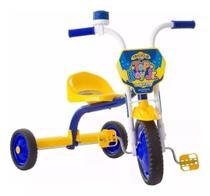 Velotrol Triciclo Infantil Ultra Bikes Menino Azul e Amarelo -