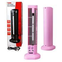Ventilador Abajur Luminária Led Vertical Usb Mesa Computador Rosa - Tomate
