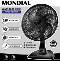 Imagem de Ventilador de Mesa Mondial Maxi Power 40cm 3 Velocidades 6 Pás - NV-75-6P-NP