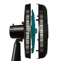 Ventilador de Mesa Mondial VTX-40-8P-AP Turbo 8 Pás 40cm 3 Velocidades Preto e Azul 110V -