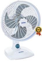 Ventilador De Mesa Parede 30 Cm Silencioso Oscilante 4 Pás 50 Watts Branco 3 Velocidades 127V Econômico Ultra Mondial -