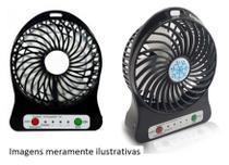 Ventilador De Mesa Portátil Potente USB PRETO/ROSA - Sef Eletro