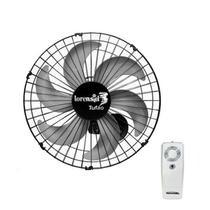 Ventilador de Parede Com Controle Remoto Tufão 50cm Preto Bivolt Loren Sid -