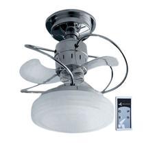Ventilador De Teto 3 Pas Silencioso com Lustre Bali Cromado + Controle Remoto - Treviso -