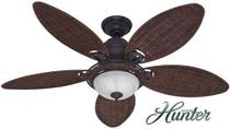 Ventilador de teto caribbean breeze 127v bronze hunter 50057 -
