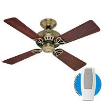 Ventilador de Teto Hunter Bayport Metal Antigo Com Controle Remoto - Hunter fan