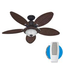 Ventilador de Teto Hunter Caribbean Breeze Vime escuro Com Controle Remoto - Hunter fan