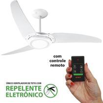Ventilador de Teto Spirit 303 Branco Led Repelente Controle Remoto -