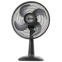 Ventilador Mallory Eco TS30, 30cm, 4 Pás, 3 Velocidades, Preto/Grafite - 110V -
