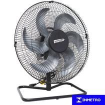 Ventilador Mesa Chão 50cm Bivolt 110V 220V 200W Industrial Turbo Turbão 6 Pás Vitalex OM50FP Preto -