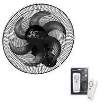 Ventilador Oscilante de Parede Free 40cm Preto Bivolt Com Controle Remoto ( Grade Metal ) - Venti delta