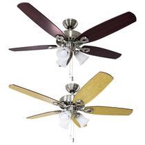 Ventilador teto Hunter Fan Builder Plus niquel 5 pás com luminária 127V ST50061 -