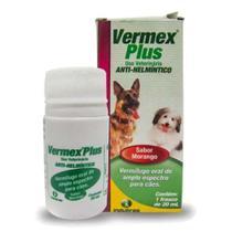 Vermex Plus 20 Ml Vermífugo Oral Dog Cat Cães Gatos Cachorro -