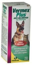 Vermex Plus 20ml Sabor Morango Cães e Gatos - Indubras -