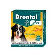 Vermífugo Bayer Drontal Plus Cães Maxi 35kg - 2 Comprimidos -