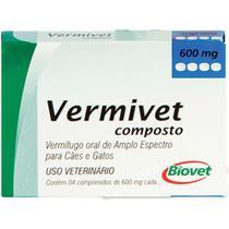 Vermífugo Biovet Vermivet Composto 600 mg -