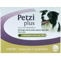 Vermífugo Ceva Petzi Plus 700 mg para Cães - 4 Comprimidos -