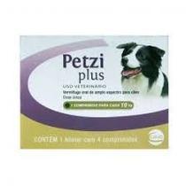 Vermífugo Ceva Petzi Plus 700mg para Cães 10kg 4 comprimidos -