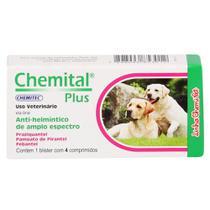 Vermífugo Chemital Plus Chemitec c/ 4 Comprimidos -