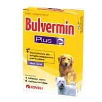Vermífugo Coveli Bulvermim Plus 4 Comprimidos para Cães -
